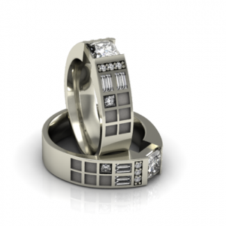 Police Box Ring - Diamond/CZ