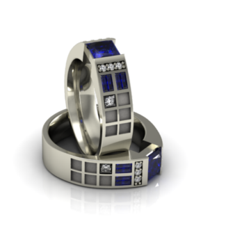 Police Box Ring - Sapphire