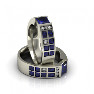 Grand Police Box Ring - Sapphire