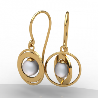 Saturn Earrings (pair)