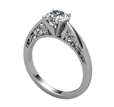 Polygon Solitaire Ring