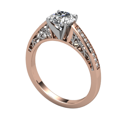 Polygon Engagement Ring