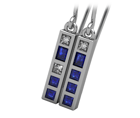 Police Box Earrings